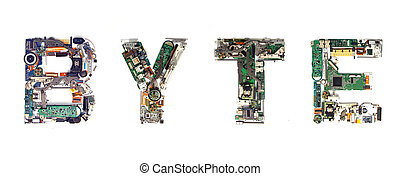 byte electronic - The word BYTE made with letters that are...