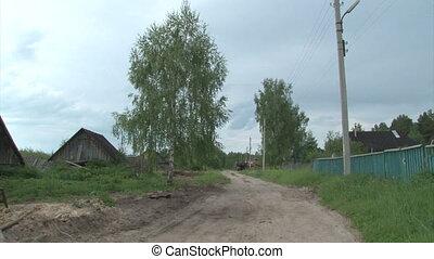 Remote Lonley Russian Village