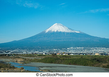 view of fuji mountain in Japan
