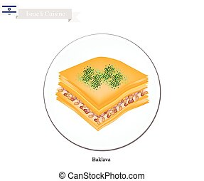 Baklava or Israeli Cheese Pastry with Syrup - Israeli...