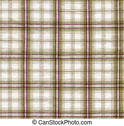 Seamless checked cloth texture - Close-up of a brown checked...