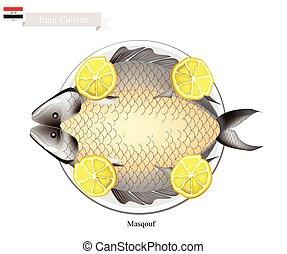 Masqouf or Traditional Iraqi Grilling Carp Fish - Iraqi...