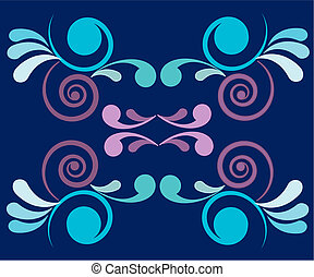 floral abstract vector design