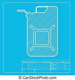 Jerrycan oil sign Jerry can oil sign White section of icon...
