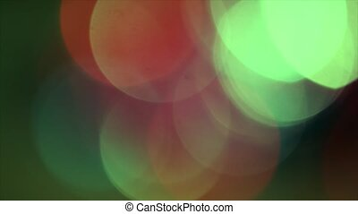 4K Steady Of Focus Circular Bokeh Red and Green On Flicker