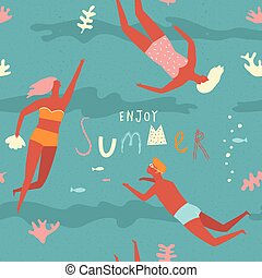 Summer fun concept - Summer beach poster with lettering...