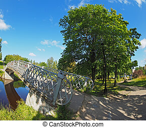 Bridge over the river in the park
