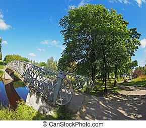 Bridge over the river in the park