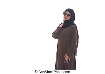 Beautiful Young Muslim Woman With Sunglasses