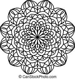 Coloring Book Mandala. - Line mandala isolated on white...