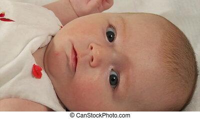 newborn baby - close-up three month newborn baby
