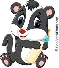 skunk cartoon - illustration of baby skunk cartoon