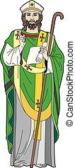 Churchman - Vector illustration of a clergyman, EPS 8 file
