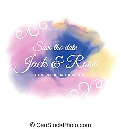 water color stain wedding background
