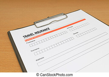 travel Insurance application form