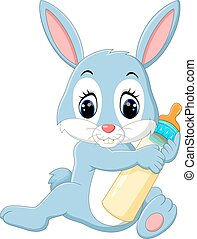 cute baby rabbit - illustration of cute baby rabbit cartoon