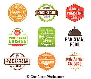 Pakistani cuisine vector label - Pakistani cuisine,...