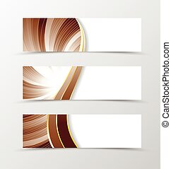 Set of banner vortex design Light banner for header in...