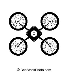 robot icon Drone design Vector graphic - Drone concept...