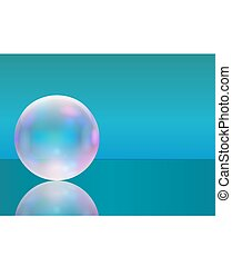 Frame with transparent realistic soap bubble. Vector...
