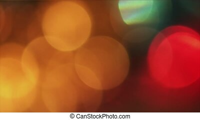 4K Steady Of Focus Circular Bokeh Red and Yellow