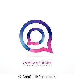 chat logo template design illustration