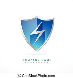 security shield logo template design