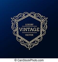 vintage luxury frame design illustration