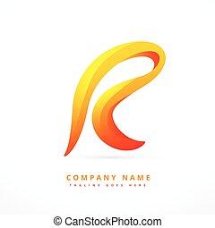 letter logo template design illustration