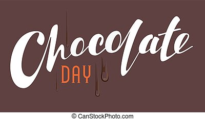 Chocolate Day lettering text