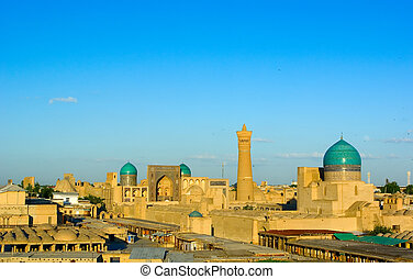 View of Bukhara from the wall of the old fortress Ark