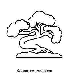 Bonsai plant icon. Japan culture. Vector graphic - Japan...