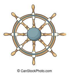 Vector illustration of ship steering wheel