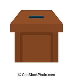 Box icon Vote design Vector graphic - Vote represented by...