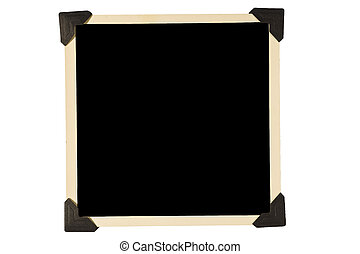 Square Photo Frame Black Corners