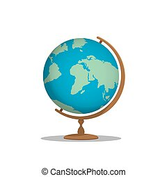 Globe model for learning many things about the world or about a meaningful international on white background vector.