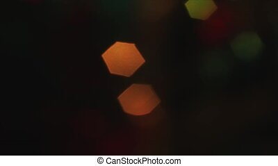 4K Steady Of Focus Hexagon Bokeh Colorful