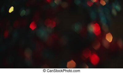 4K Steady Of Focus Hexagon Bokeh Colorful On Flicker