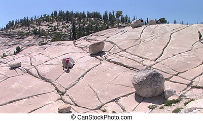Olmsted Point - Visitors at Yosemite National Park, Olmsted...