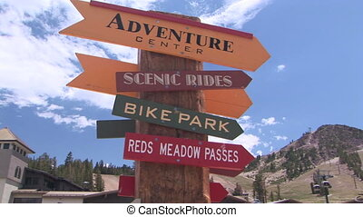 Signpost - Directional signs for bike park and adventure...