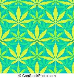 seamless,  Cannabis, bladeren, Marihuana, model