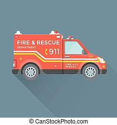 fire rescue department emergency car