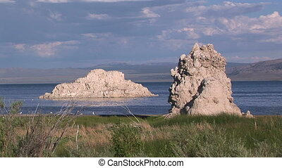 Rock Formations at Mono Lake - Tufa formations at Mono Lake,...