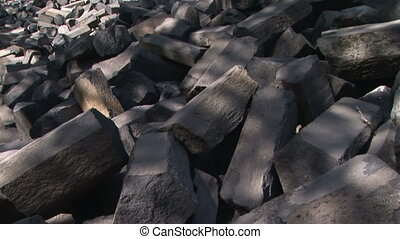 Devils Postpile - Formations of Columnar Basalt at Devils...