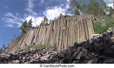 Devils Postpile - Formations of Columnar Basalt at Devils...