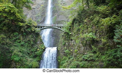 Bridge at Multnomah Falls - Historic Multnomah Falls in...