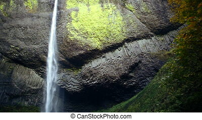 Latourell Falls - Waterfall, Latourell Falls along the...