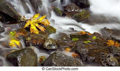 Time Lapse, rushing water