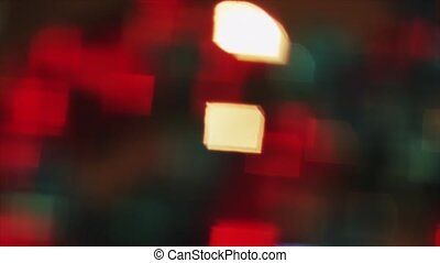 4K Steady Of Focus Rectangular Bokeh Colorful On Flicker