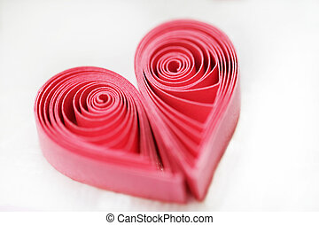 Quilling handmade heart Made of paper heart in quilling...
